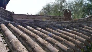 antiga arquitetura tradicional chinesa pedra pedra telhado telha foto
