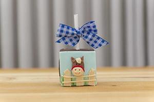 pirulito de chocolate quadrado decorado com tema de fazenda foto