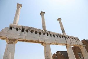 as ruínas da antiga cidade de pompéia itália foto