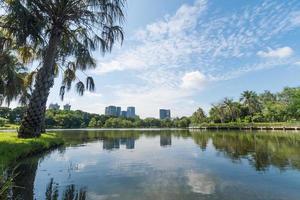 parque público em bangkok, tailândia foto
