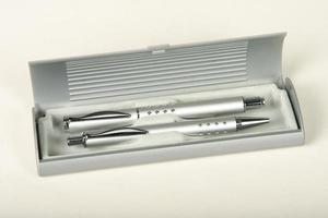 conjuntos de lápis de madeira, metal de qualidade foto