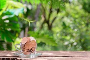 conceito, investimento, estoque, economia de dinheiro, crescimento financeiro foto