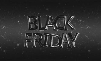 text black friday feito de balões de alumínio foto
