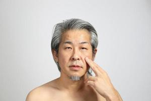 rosto de pele real foto