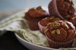 menu de cupcakes de pão delicioso foto
