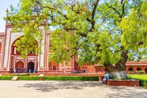 uttar pradesh índia 10. mai 2018 taj mahal grande portão em agra, uttar pradesh, índia foto