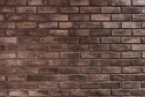 fundo de parede de tijolo marrom grunge foto