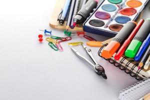 material escolar colorido foto