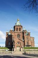 Catedral da Igreja Ortodoxa de Uspenski, ponto de referência famoso na cidade de Helsínquia, na Finlândia foto