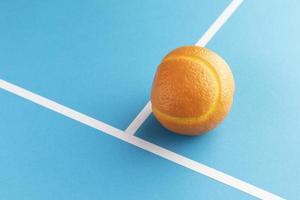 close up complementos de comida com laranja foto