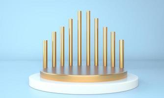 Fundo abstrato 3D, mock up pódio de forma de geometria de cena para exposição de produtos, ilustração 3D. foto