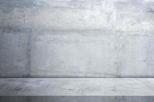 piso de cimento e fundo de parede, interior, quarto, produtos de exibição de design. foto