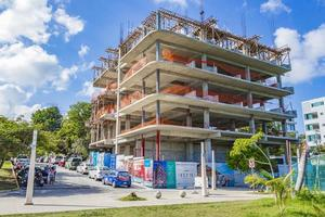 canteiro de obras de complexo hoteleiro em playa del carmen, méxico foto