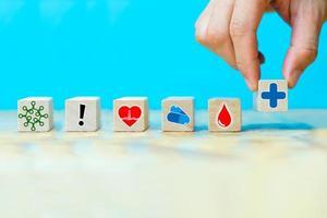 empresários escolhem ícones símbolo de saúde foto