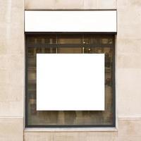 vitrine de outdoor branco foto
