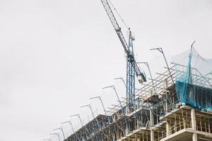 construção civil de guindaste foto