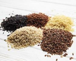 conjunto de vários arroz foto