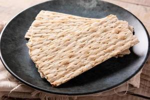 pão matzah tradicional foto