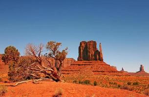 paisagem da nação navajo do vale do monumento foto
