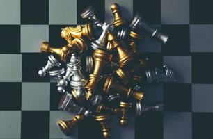 conceito de jogo de tabuleiro de xadrez foto