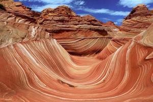 a formação de areia navajo das ondas no arizona eua foto