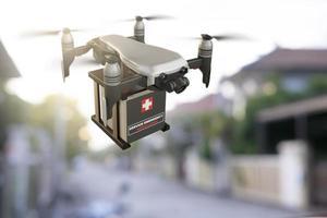 indústria de dispositivos de engenharia de tecnologia de drones voando em logística industrial exportação importação covid 19 serviço de entrega de vacina logística coronavírus transporte transporte para pessoas foto