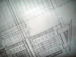 desenhos arquitetônicos em papel foto