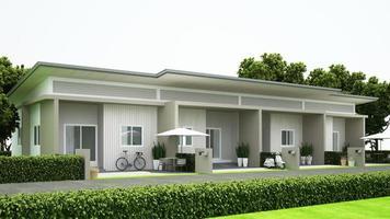 projeto de casa geminada para propriedade foto