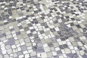 chão de pedra típico de Lisboa foto
