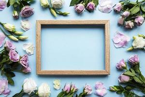 moldura e flores rosa foto