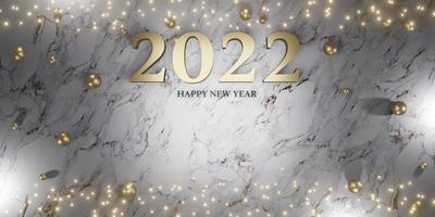 feliz ano novo de 2022 fundo de natal e ano novo foto