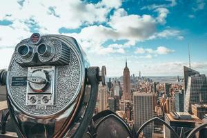 binóculos visualizador de torre foto