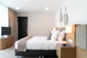 borrão abstrato lindo quarto de hotel de luxo foto