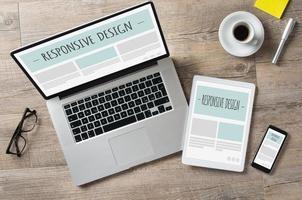 design responsivo e dispositivos da web foto