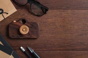 mesa de madeira moderna foto