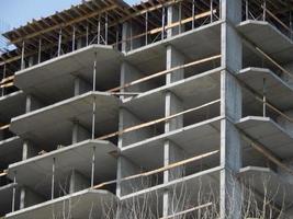 construção de um prédio residencial em um prédio foto