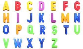 letras maiúsculas do alfabeto foto