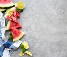 melancia com limão foto