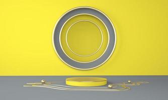 Fundo abstrato 3D, mock up pódio de forma de geometria de cena para exposição de produtos. foto