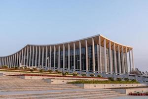 putian, china, 2021 - edifício permanente do fórum meizhou mazu foto