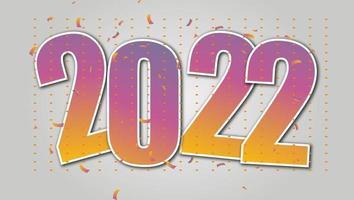 2022 feliz ano novo 2022 texto design livre vetor foto