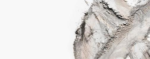 mancha plana de argila com espaço de cópia foto