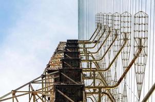 pripyat, ucrânia, 2021 - torre de rádio em chernobyl foto
