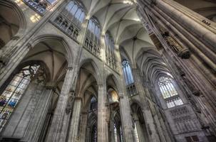 Colônia, Alemanha, 28 de fevereiro de 2015 - detalhe da Catedral de Colônia na Alemanha. é sede do arcebispo de colônia e administração da arquidiocese de colônia. foto