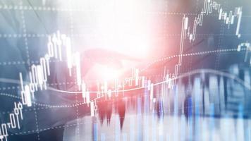 negociação forex, mercado financeiro, conceito de investimento no fundo do centro de negócios. foto