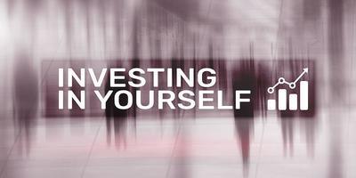 investindo em si mesmo. fundo financeiro corporativo de negócios. foto
