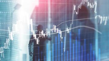 negociação forex, mercado financeiro, conceito de investimento no fundo do centro de negócios foto