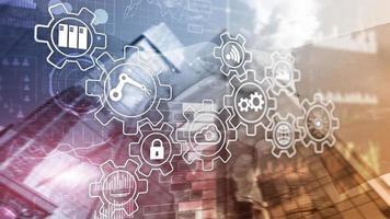 inovação tecnológica e automação de processos. indústria inteligente 4.0. foto