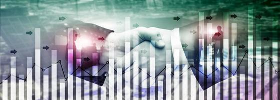 investimento, negociação, finanças, análise, forex, moeda, economia, crescimento, abstratos, fundo, business people, modernos, city. foto
