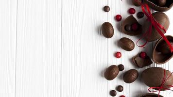 doces de ovos de chocolate foto